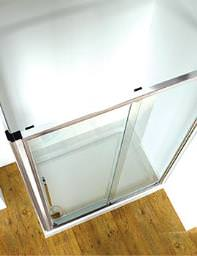 Original Straight 1200mm Sliding Shower Door With Tray And Waste