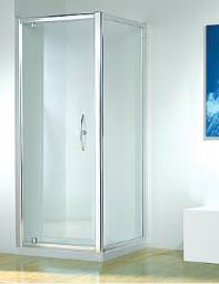 Kudos Original 900mm White Straight Pivot Door With Tray And Waste
