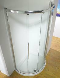 Kudos Original 1000mm White Curved Slider Door Side Access