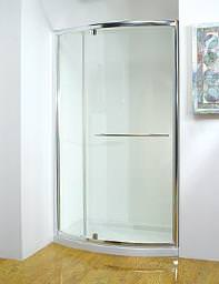 Kudos Original 1200mm White Bowed Pivot Door With Tray And Waste
