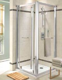 Twyford Geo6 Bi-Fold Shower Enclosure Door 900mm - G65200CP