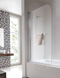 Twyford Geo6 Single Panel Bath Screen 1500 x 850mm - G61968CP