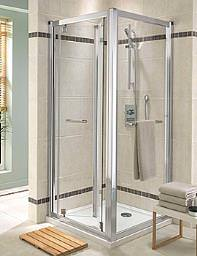 Twyford Geo6 Bi-Fold Shower Enclosure Door 800mm - G64200CP