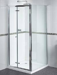 Aqualux Shine Bifold Shower Door 900mm Polished Silver - FEN0900AQU