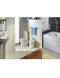 Aqva Verizon White Bathroom Suite
