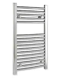 Tivolis Towel Warmer 500 x 800mm - Chrome Finish - Curved Version