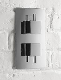 Aquadart Concealed Thermostatic Shower Valve With Square Handles
