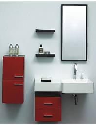 Lauren Murphy Red Designer Bathroom Furniture Vanity Unit Complete