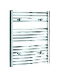 Tivolis Curved Bathroom Radiator 450 x 600 - Chrome Finish