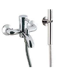 Design Wall Mounted Bath Shower Mixer Tap with Kit - DE421WC