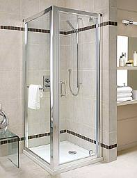 Twyford Geo6 Pivot Shower Enclosure Door 760mm - G63100CP