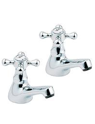 Deva Tudor Chrome Basin Taps - TUD01