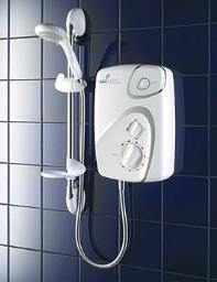 Galaxy Aqua 9000 8.5Kw Pumped Electric Shower White-Chrome - 030320