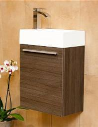 Lauren Opal Expanded Wall Hung Vanity Unit And Basin 460mm Grey Oak