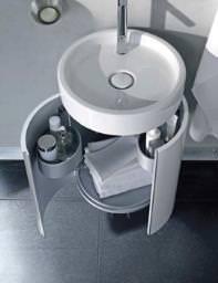 Duravit Starck 1 Furniture And Washbasin 470mm - 038647 - S1 9523