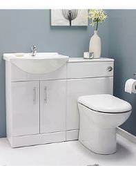 Lauren Saturn Bathroom Furniture Pack White - SAT001