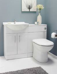 Lauren Bathroom Vanity Unit With Back To Wall Unit And WC 1150mm