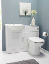 Lauren Bathroom Vanity Unit With Back To Wall Unit And WC 950mm