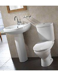 Twyford Refresh Square White Cloakroom Suite