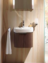 Happy D Wall Mounted Washbasin with Vanity White - 041710 - HD 6278