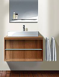 Duravit X-Large Wall-Mounted Vanity Unit 800 x 440mm Teak - XL 6718