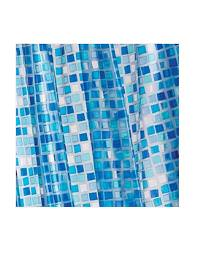 Croydex Blue Mosaic PVC Shower Curtain - AE543424