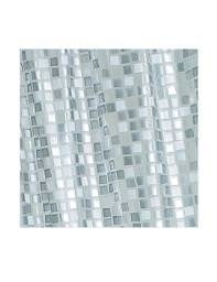 Croydex Silver Mosaic PVC Shower Curtain - AE543440