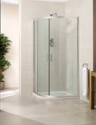 April Identiti2 Double Door Quadrant Shower Enclosure 800mm White