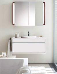 Starck 3 Vanity Basin 560mm On Ketho Furniture 1000mm - KT 6755 - 030256