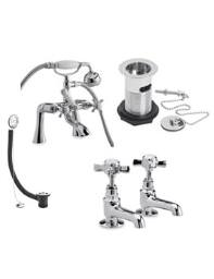 Ultra Beaumont Cranked Bath Shower Mixer Pack - I399X