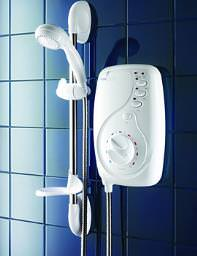 Galaxy Aqua 4000 Electric Shower 9.5KW White And Chrome - 021236