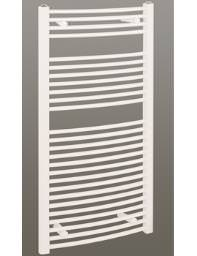 Reina Diva Curved Towel Radiator 600 x 1200mm - White Finish