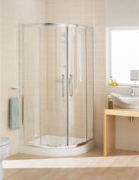 Lakes Classic Silver Quadrant Shower Enclosure 900 x 1850mm