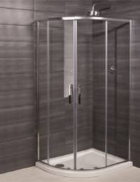 RAK Premium 6 Double Door Offset Shower Quadrant 1000 x 800mm