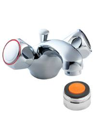 Deva Profile Mono Basin Mixer Tap Chrome With 5 L-Min Flow Regulator