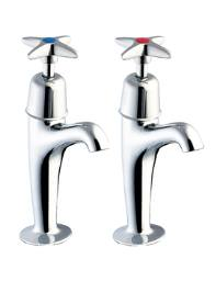 Deva Cross Handle High Neck Kitchen Sink Taps - 930X