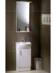 VitrA Polar 45cm Unit And Basin With Mirror - 51009 - 51010