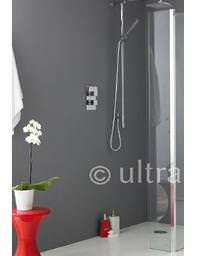 Ultra Wetroom Shower Return Screen 215 x 1950mm - WRSB250
