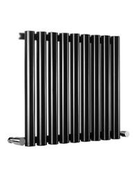 Reina Sena Designer Radiator 395 X 550mm Black Finish - RND-SN06B
