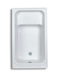 Trojan Kent White Shower Bath 1220 x 715mm