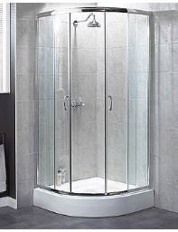 Aqualux Shine Quadrant Shower Enclosure 800mm Silver - FEN0884AQU