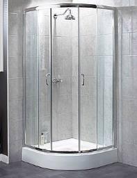 Aqualux Shine Quadrant Shower Enclosure 900 x 900mm Silver
