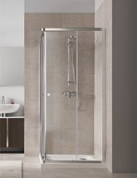 Twyford T4 Corner Entry Glass Cubicle 800mm - T44300CP