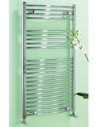 Biasi Dolomite Chrome Curved Heated Towel Rail 600 x 800mm