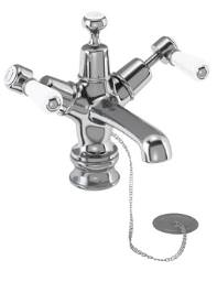 Burlington Kensington Regent Basin Mixer With Plug And Chain Waste KER5