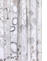Croydex Abstract Design PEVA Vinyl Curtain for Showers
