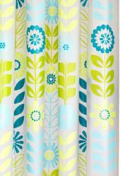 Croydex Mod Floral PEVA Vinyl Shower Curtain - AE287326
