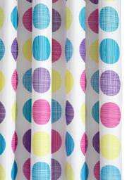 Croydex Textured Dots Textile Shower Curtain - AF288115