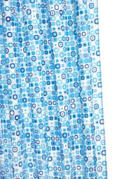 Croydex Geo Mosaic Textile Shower Curtain With Hygiene N Clean