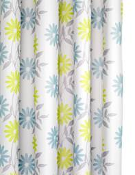 Croydex Scribble Flower Textile Shower Curtain - AF288926